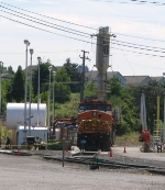 BNSF912 and Vancouver sanding tower
